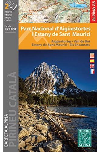 Parc Nacional d'Aigüestortes i Stany de Sant Maurici. 1:25.000. 2 mapas excursionistas. Editorial Alpina.