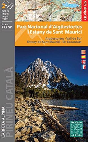 Parc Nacional d'Aigüestortes i Stany de Sant Maurici. 1:25.000. 2 mapas excursionistas. Editorial Alpina. por VV.AA.