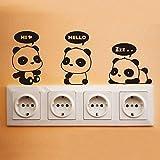 Kicode Panda Plug Apri Close Switch Baby Casa dei bambini Sticker Decal Intorno all'interruttore della luce Decorazioni promemoria