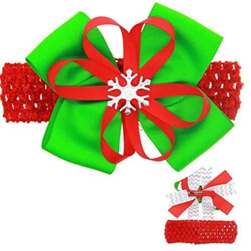 Cuhair (tm) 1pc Noël Ribbon Bow pour cheveux barettes de pince à cheveux broches accessoires pour cheveux pince à cheveux femmes Teens filles Bébés tout-petits
