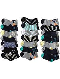 10 Stück Jungen Sneaker Socken Größe 28-35