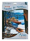 Reeves Artist Zeitvertreib Malen nach Zahlen, Malpappe, Mehrfarbig 22x30x1.8 cm