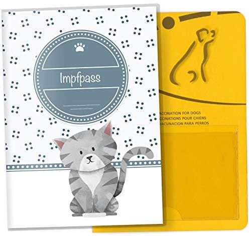 Impfpass Hülle für Tiere Lovely Kittens Tierausweis Schutzhülle schöne Geschenkidee (Smokey, Impfpasshülle ohne Personalisierung)