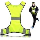 Reflektierende Warnweste,Sicherheitsweste LDream®,Safety Visibility Weste,Sicherheits-Reflektoren Set bestehend aus Sicherheitsweste,Warnweste Reflektierende Running Weste Für Damen Und Herren,Gelb