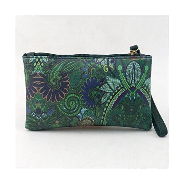 51LhGUCPpqL. SS600  - SMARTLADY Bolsos de mano de PU Cuero Moda retro Dibujos Animados Carteras Monederos (Verde)