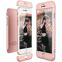 CE-Link Funda para Apple iPhone 6 6S Rigida 360 Grados Integral, Carcasa iPhone 6 Silicona Snap On Diseño Antigolpes Choque Absorción, iPhone 6S Case Bumper 3 en 1 Estructura - Oro