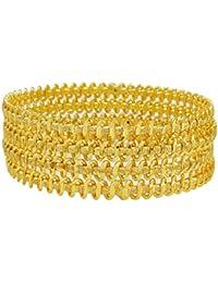 Goldplated Bollywood Designer Bangle Set Traditional Indian Bracelet Jewellery 2*8