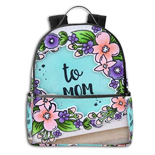 Schulrucksack, Unisex, klassisch, leicht, für Herren und Damen, College, Schulranzen, Reisen, Büchertasche, Muttertagskarte