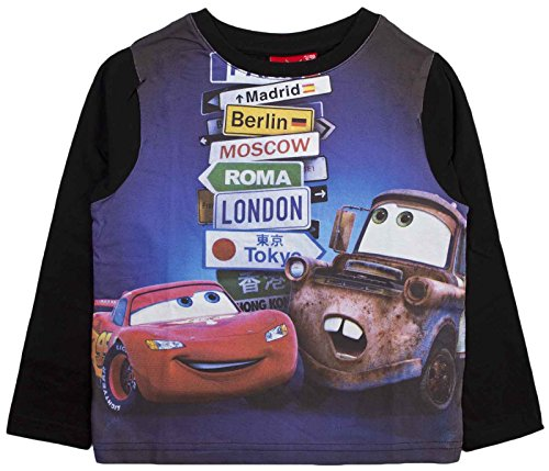 Disney Cars Lightning McQueen Long Sleeve Boys Top Tee Size UK 2-8 Years