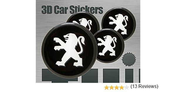 Think Ink Autocollants 3D 4 pcs Logo Imitation Toutes Les Tailles de Garnitures de Roues Cap Centre 50 mm