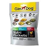 Gimdog Nutri Pockets Shiny, Agile, Brillant Mix | Knuspersnack mit cremiger Füllung und funktionalen Inhaltsstoffen | mit Biotin, Vitamin B, Mineralien, Glucosamin | 1 Beutel (1 x 150 g)