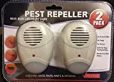 Ultrasonic Plug In Pest Repeller & Night Light Mouse Mice Rat Insects Spider