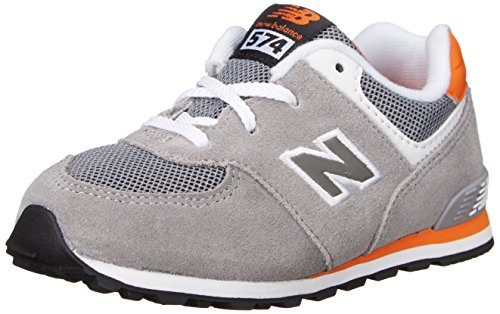 New Balance KL574 Lifestyle Running Shoe (Infant/Toddler) Grey/Orange