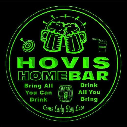 4x-ccq20992-g-hovis-family-name-home-bar-pub-beer-club-gift-3d-coasters