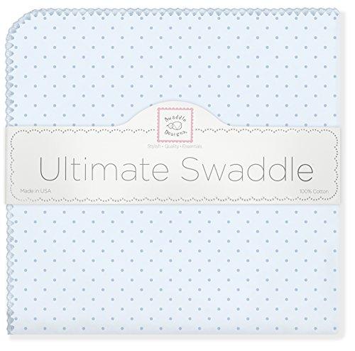 SwaddleDesigns SD-048PB Puckdecke für Neugeborene in Blau (Pünktchen)