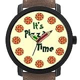 Geschenk für Erwachsene | Kinder | Geburtstag | Stilvolle niedliche Armbanduhr mit Bleistift Form Pointer Ornament Geschenk 168.Funny It es Pizza Time
