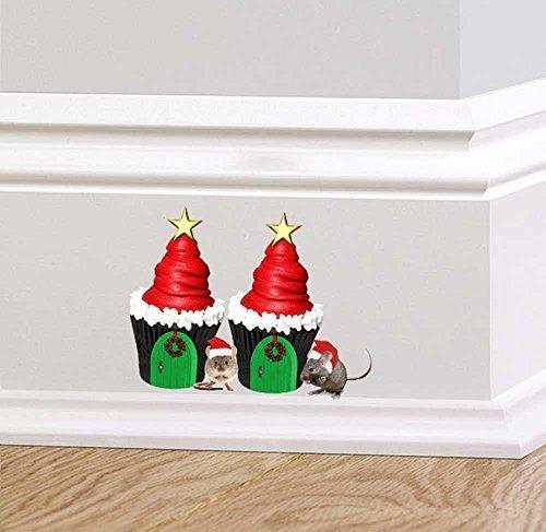 full-farbe-weihnachten-cupcakes-maus-wandtattoo-aufkleber-santa-hute-sockelleiste-miniatur-world-kin