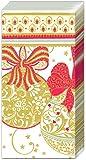 Lot de 2boules de Navidad decorativa Blanc Rouge de Noël de poche Papier Sac à main–Mouchoirs Etuis 10Mouchoirs 3plis dans chaque lot