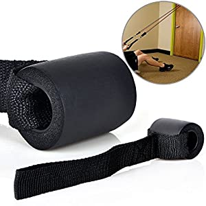 KYLIN SPORT Widerstandsband, Tür-Anker/Befestigung, mit solidem Nylonkern, Schützender Schaumstoff, Starkes Nylon-Gurtband für Sport/Body-Building