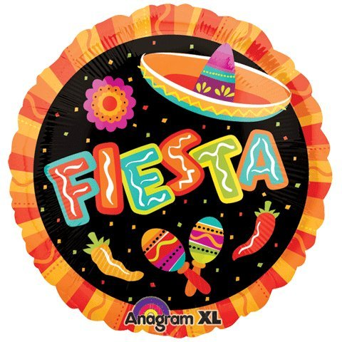 Anagram 2661802 Folienballon Fiesta More Fun, 45,7 cm, mehrfarbig