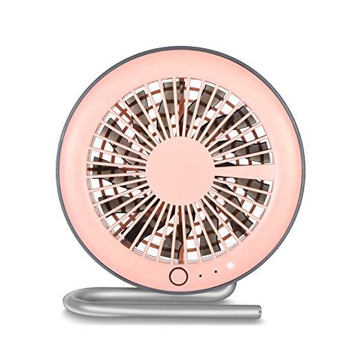 HYH USB Mini Fan Kreative Persönlichkeit Sommer Magnetische Halterung Desktop Tragbare Tragbare Schlafzimmer Student Lade Fan 13 Fan Blatt Ultra Leise Schönes Leben (Farbe : Pink) -