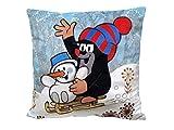 Trullala Kuschelkissen, der kleine Maulwurf, aus der Sendung mit der Maus 30 x 30 cm Motiv: Winter