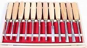 Jeu d'outils de sculpture 12 pces coffre bois jeu sculpture sur bois ciseau bois