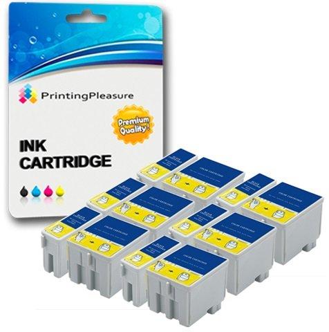 Preisvergleich Produktbild 12 Druckerpatronen für Epson Stylus Colour 400, 440, 460, 500, 580, 600, 600Q, 640, 660, 670, C20, C20SX, C20UX, C40, C40SX, C40UX | kompatibel zu T050, T052
