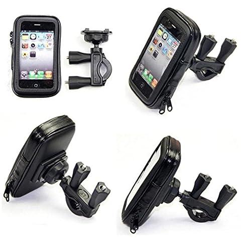 hunpta Étui support de vélo étanche pour téléphone portable, noir