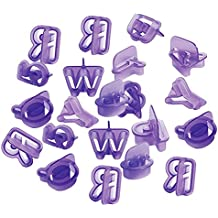 40pcs Molde de Galletas Fondant Pastel Hornada Forma de Número Letra Alfabeto Cortadores