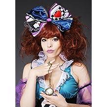 Peluca de sombrerero loco Deluxe mujeres y arco de pelo
