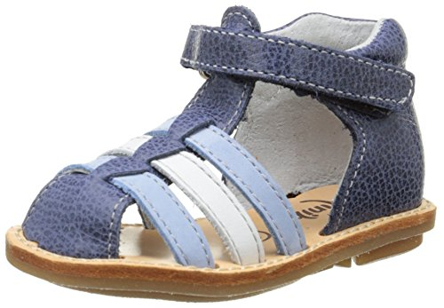 Minibel Keou, Chaussures Bébé marche bébé garçon Bleu (10 Jean/Bleu)