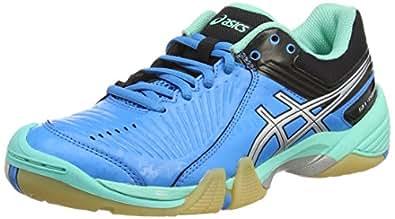Asics Gel-Domain 3, Damen Handballschuhe, Blau (Aqua Mint/Silver/Electric Blue 7093), 38 EU