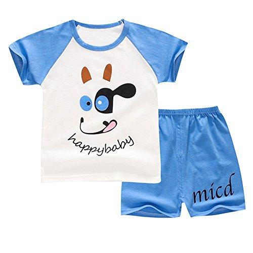 Baby Boy Outfit Sommerkleidung Set Cartoon T-Shirt Top und kurze Hose für 6 Monate bis 4 Jahre alt (Monat 3 Kostüm Halloween Altes)