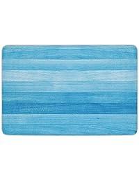c0b2c0a946 XIEXING Water Absorption Reactive Dyeing Durability Doormat Bathroom Bath  rug Kitchen Floor Mat Carpet,Light Blue,Wooden Planks Painted…
