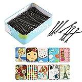 Haarklammer,Eine Box Haarnadeln Haarschmuck für Haar-Organisation schwarz - 150 Stück