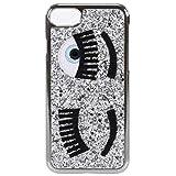 Chiara Ferragni Flirting Eyes Funda para iPhone - Plato Glitter - iPhone 6 Plus / 6S Plus - 7 Plus / 7S Plus - Estilo Italiano