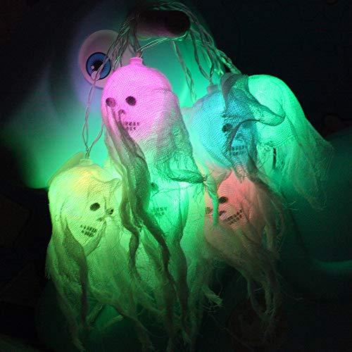 PowerBH 3 m LED Laterne Batterie Licht Halloween Party Dekoration Schädel Form Spaß Persönlichkeit Lichterketten Bunte Lichter