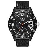 Adidas ADH3157 NEWBURGH Uhr Herrenuhr Stoffband Kunststoff 10 bar Analog Datum schwarz