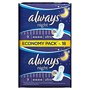 Always Ultra Night Sanitary Towels - Pack of 18