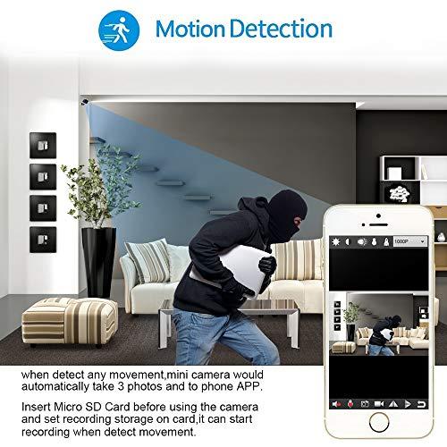 Mini Camera Spia LXMIMI Telecamera Nascosta Telecamera 1080P Wifi Telecamera Spia Videocamera 140 ° Grandangolare Nascosta Microcamera con Visione Notturna e Rilevamento del Movimento - 3