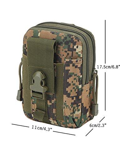 CUKKE Multipurpose Taktische Tasche Gürtel Taille Pack Tasche Military Taille Fanny Pack Telefon Tasche Gadget Geld Tasche Tarnung 4 Tarnung 5