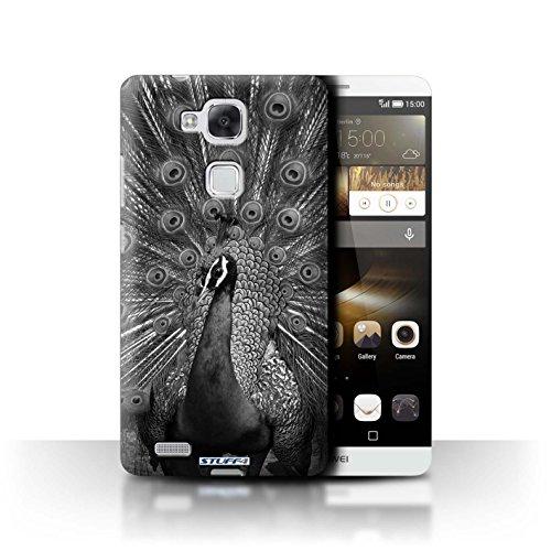Stuff4® Hülle/Hülle für Huawei Ascend Mate7 / Pfau Muster/Zoo-Tiere Kollektion