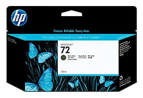 HP 72 Mattschwarz Original Druckerpatrone mit hoher Reichweite (130 ml) für HP DesignJet