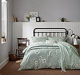 Sanderson Home Maelee Housse de Couette, Coton, Bleu Clair, King