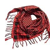 Yvelands Schal Wrap Unisex Mode Frauen Männer Arabischen Shemagh Keffiyeh Palästina Schal Schal Wrap(Rot)