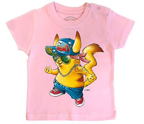 PIXEL EVOLUTION 3D Animierte T-Shirt Baby Pika Urban Style in Augmented Reality Größe 18 Mois - Pink