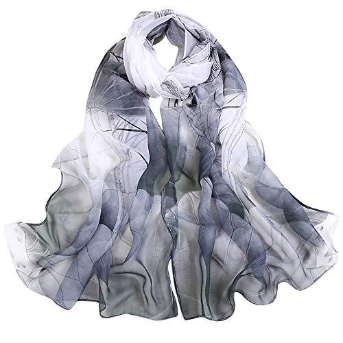 TIFIY Damen Schal Schals, Damen Halloween Tanzen Zubehör Lotus Printing Lange Wrap Schal Party Schals Kostüm Cosplay
