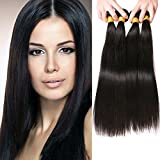 SilkyLong Peruvian hair Straight hair 4 bundles 22 24 26 28 inch Natural Black Human hair Cheap Wholesale