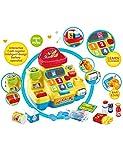 Coolle Interaktive Supermarktkasse Spielzeug Pretend & Play Lehrspielzeug Playset Intelligentes Design Batteriebetrieb mit Licht & Musik Zubehör für Kinder Kinder Jungen Mädchen ab 3 Jahren